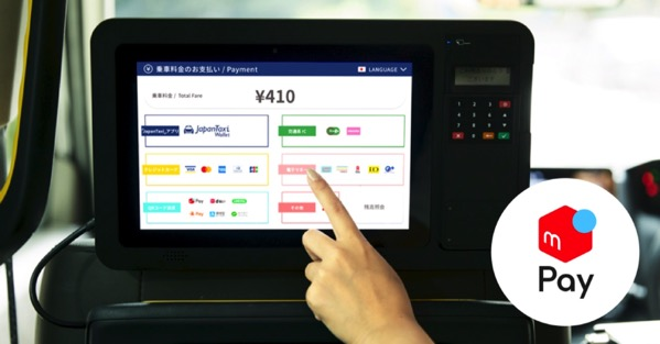 「JapanTaxiタブレット」搭載タクシー