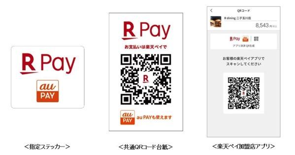 「au PAY」が楽天ペイ加盟店でも利用可能
