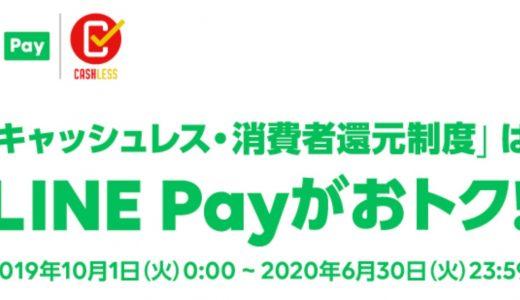 LINE Pay(ラインペイ)は10月からキャッシュレス・消費者還元制度で最大7%還元