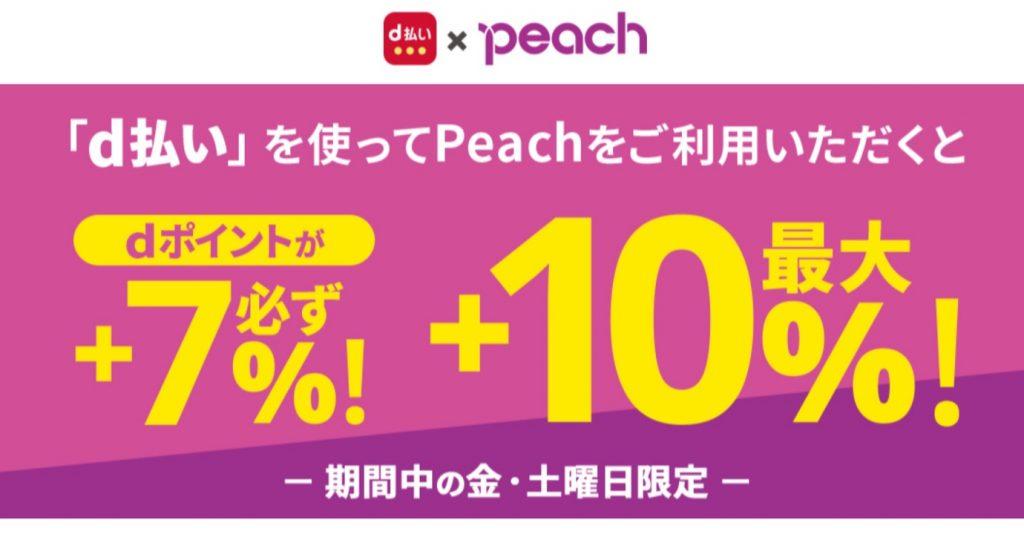 d払い×Peach 毎週お得なd曜日