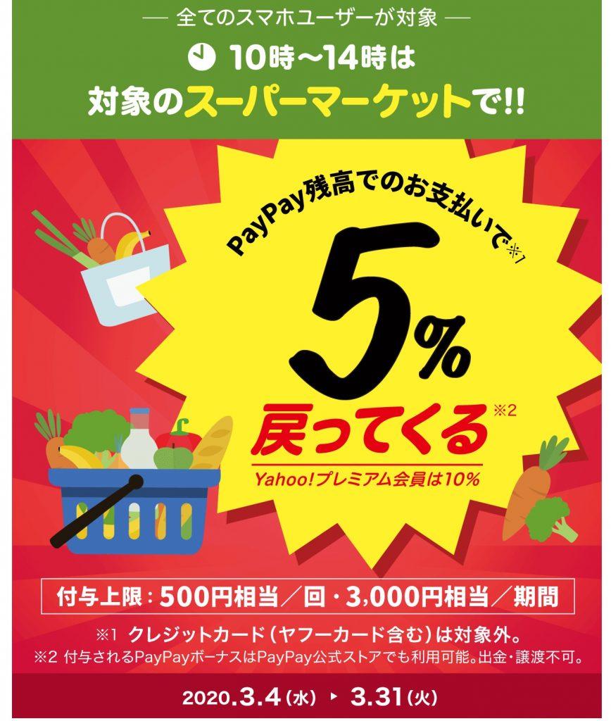 10時~14時がおトク!春のスーパーマーケット大還元祭