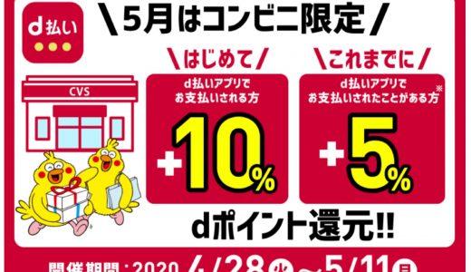 d払いでコンビニ最大10%還元キャンペーンが開催中!
