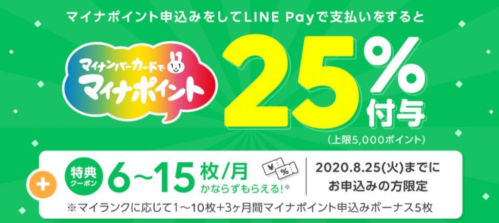 LINE Pay マイナポイント 独自キャンペーン