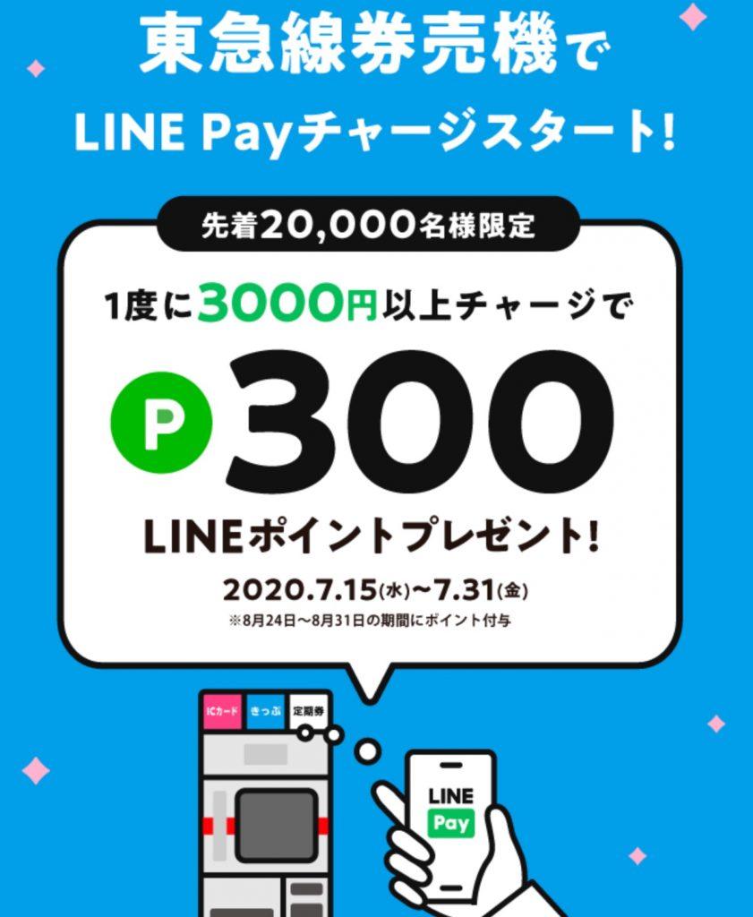 LINE Payへのチャージが東急線各駅の券売機で可能に!