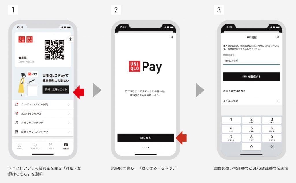 UNIQLO Pay登録方法
