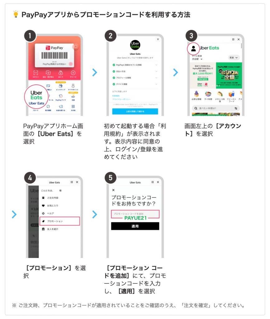 PayPayアプリからプロモーションコードを利用する方法