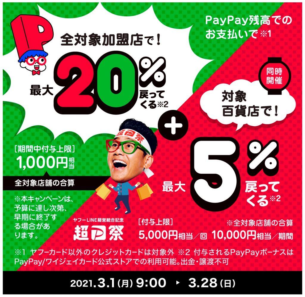 超PayPay祭 あなたの街の百貨店で超おトクキャンペーン