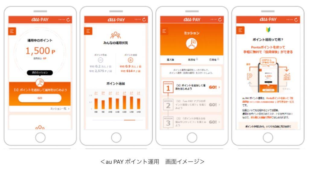 「au PAY アプリ」内のミニアプリ「au PAY ポイント運用」