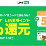 Visa LINE Payプリペイドカードの利用で最大6%還元