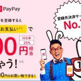 PayPay(ペイペイ)のマイナポイントへの登録期間が年末まで延長